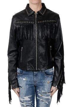 Leather L-ELSIE-A Jacket With Fringes