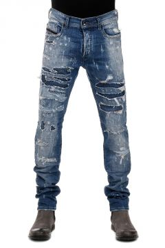 Jeans in Denim Destroyed TEPPHAR 15 cm