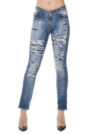Jeans in Denim Stretch SANDY L.32 16 cm