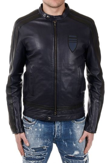 BLACK GOLD DIESEL LYSTRIPE Leather Jacket