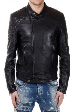 BLACK GOLD DIESEL LICHANT Leather Quilt Jacket