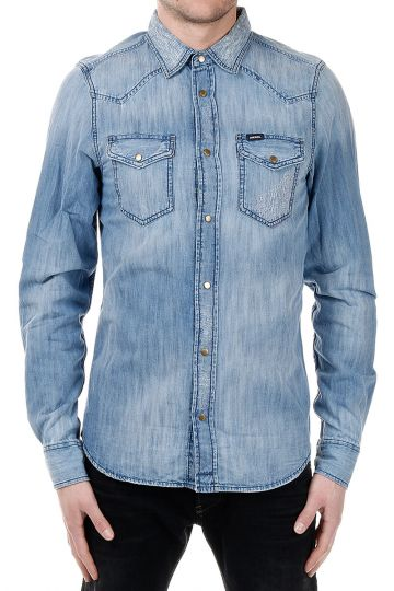 Camicia NEW-SONORA in Denim Effetto Vintage