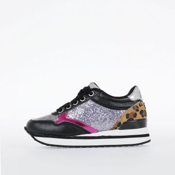 Sneakers SN LOW 3 GLITTER CH in Glitter e Pelle