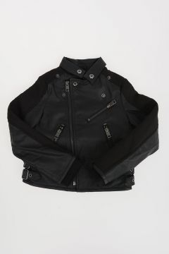 Faux Leather JADON with Neoprene Details
