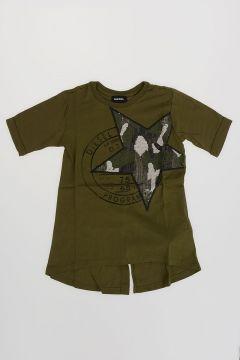 T-shirt TARRI Con Paillettes e Spacco dietro
