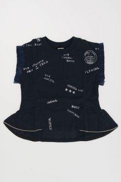 Ruffle TARSIA T-shirt