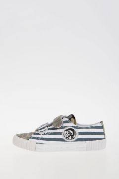 Printed Canvas SN LOW 16 STRAP NAVY YO Sneakers
