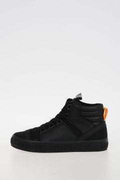 Faux Leather & Canvas SN MID 16 BASKET YO Sneakers