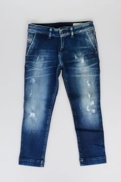 10 cm Stretch Cotton Denim PUGEE Jeans