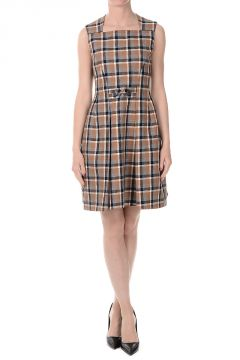 Checked wool Dress