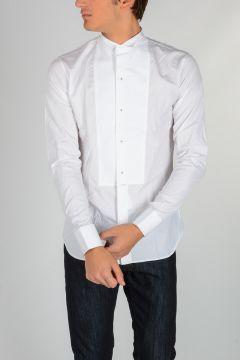 Camicia in Cotone con Plastron