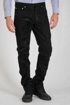 19cm Stretch Denim Printed Jeans