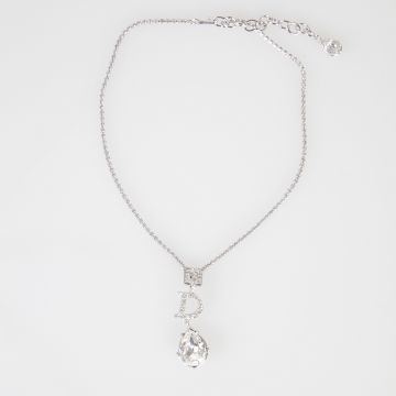 BOUTIQUE Metallic Necklace with Crystal Pendants