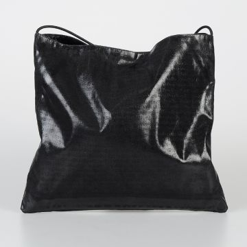 Coated Fabric Shoulder Bag