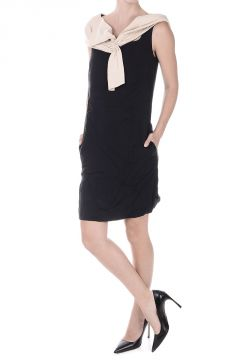 Silk and Wool Blouson Dress
