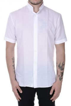 Short Sleeves Mixed Linen Shirt