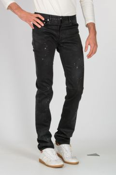 18cm Coated Cotton Jeans