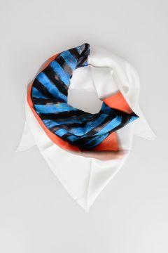 Printed Triangular Silk Foulard