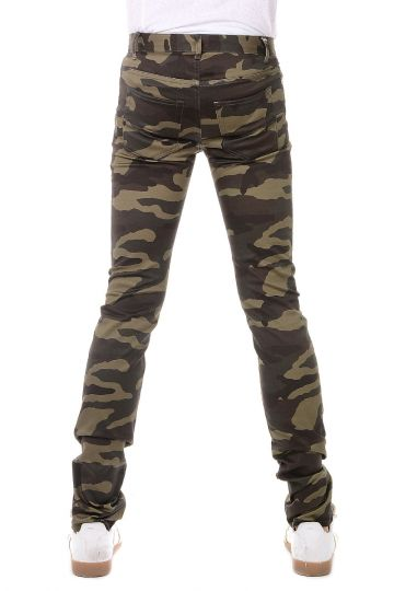 Pantaloni Camouflage in Cotone Stretch