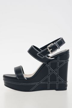 12cm Leather Wedge TACHT Sandals