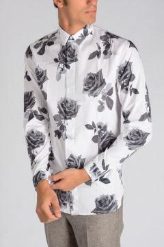 Camicia con Stampa Rose