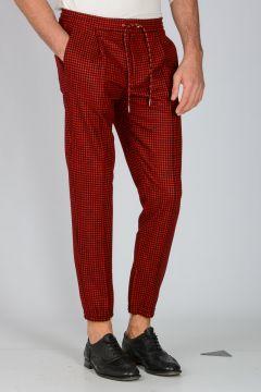 Virgin Wool Check Pants