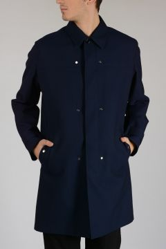 Virgin Wool Trench with Detachable Inner