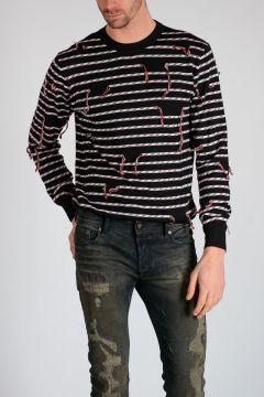 Fringed Virgin Wool Sweater