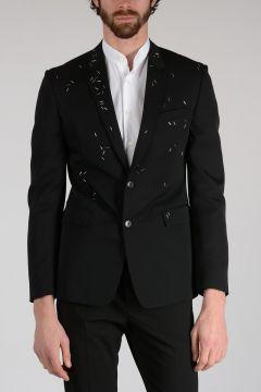Studded Wool Blazer