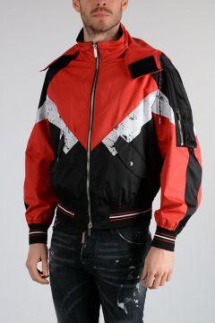 Nylon Hooded Bomber Jacket