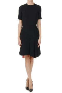 Silk Wool Flared Dress