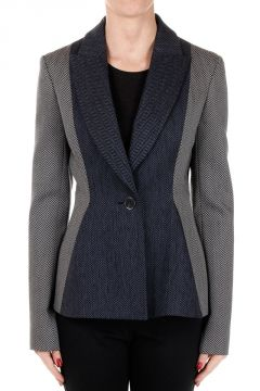Mixed Wool Single-breasted Jacket