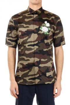 Camicia camouflage Ricamata