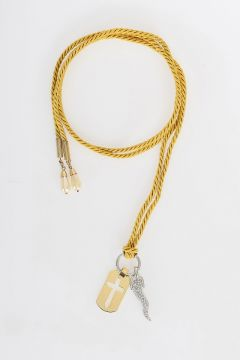 Necklace with Crystal and Glass