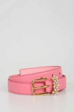 15mm Leather Jewel Belt
