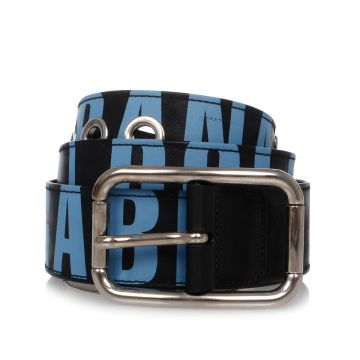 Printed Leather Belt 40 mm