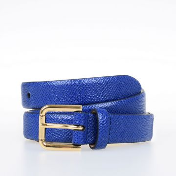 Dauphine Print Leather Belt 20 mm