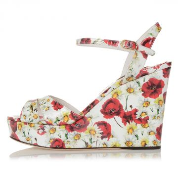 Leather Printed KEIRA Wedge