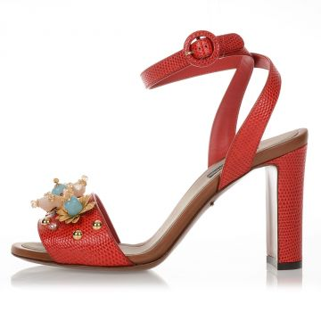 Iguana Skin Jewel Sandals KEIRA