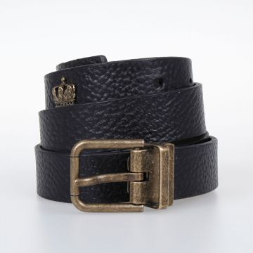 Grained Leather Belt 25 mm