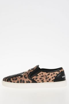 Leo Leather Slip On Sneakers
