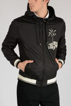Hooded and Embroidered Jacket