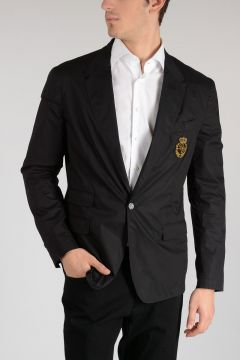 Cotton Logo Embroidered Jacket