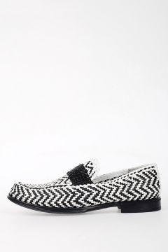 Weaving Leather Loafer