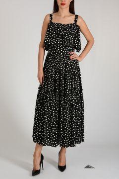 Stretch Cotton Dots Dress