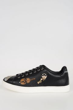 Leather Embroidered Sneakers