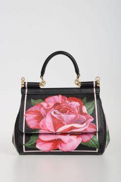 Printed Leather Mini Bag