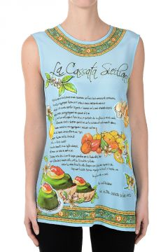 Silk Printed LA CASSATA SICILIANA Top