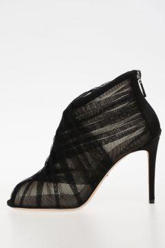 9cm fabric Heel Sandals