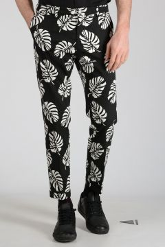 Stretch Cotton Flowered Pants